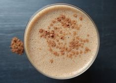 HIT ME UP! Banana, coffee & cacao powder smoothie.