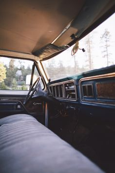 "rusty-ford: ""The inside of an old rig. Feels more like home than anything I've ever known. """