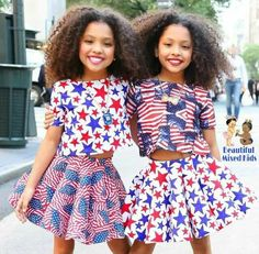 Anais & Mirabelle Lee - 9 Years • African American & English ❤❤