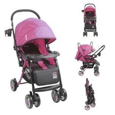 61902e688 Coche cuna y paseo Twister rosado Bebesit / Venta de coches de paseo para  bebés a