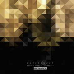 Black Gold Abstract Triangle Shape Background