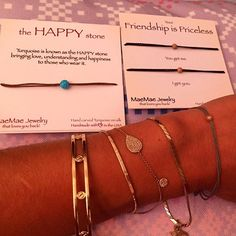 """::: THANKFUL TUESDAYS ::: thank you to the awesome @maemaejewelry for my feel-good goodies! Love my new inspirational and uplifting bracelets. A great reminder to surround yourself with people who """"get you"""", be grateful for all experiences, and know that you are enough. #love #jewelry #jewellery #jewelrygram #maemaejewelry #thankful #gratitude #countyourblessings #countyourblessingsyo #instagood #inspire #instadaily #instainspire #instainspiration #inspiration #inspirational #happy #style…"""