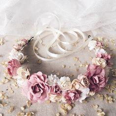 Bridal flower crown, Bridal floral crown, Floral wedding crown, Wedding flower heapiece, Wedding flower crown, Boho wedding