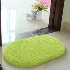 Cm Plush Velvet Non Slip Bedroom Floor Soft Gy Mat Bath Bathroom Plain Foam Rug Cleaned
