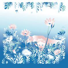 "Tigers. Illustration. Canvas Art. Inspired by Henri Rousseau ""the Dream"" Canvas art for kids. Kids room wall art, nursery print, canvas print, nursery decor, kids room poster, kids decor."