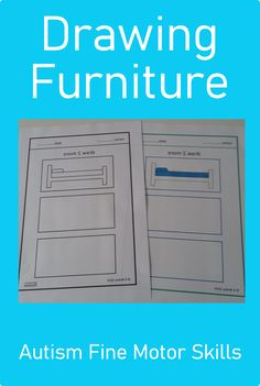 Looking for a drawing furniture activity for your students with autism? Download these Fine Motor Skills pages today from Curriculum For Autism for your classroom or distance learning