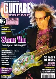 Guitare Xtreme 35 : Steve Vai  Mike Stern  Jeff Hanneman (Slayer)  Jean Fontanille Jerry Cantrell (Alice in Chains)  Michel Aymé (Pascal Obispo)  Steve Morse (Deep Purple)  Richard Z Kruspe (Rammstein)  Johnny Marr (The Cribs)  Sanseverino Ibanez ART520HS Gretsch G5135N Electromatic « Signature » Corvette Nono Digitech RP1000 BC Rich Kerry King Flying Speed VG2 Lava (câbles) Danelectro Honeytone N-10 MXR Fullbore Metal Godin Redline 3 Laney P20 Arteffect Bonnie Wah Dunlop (cordes)