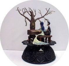 Corpse Bride & Victor Wedding Cake Topper Tim Burtons TREE Halloween Funny top