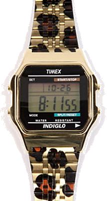 Leopard print timex - if i had a watch like this i would live in it.