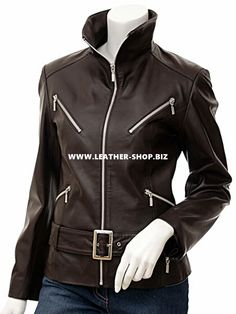 Lather Jackets custom made for ladies, this style available in 9 colors and 5 leather types.