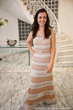 Crochet vestido de Giovana Dias. Discussão sobre LiveInternet - Russo serviço de diários on-line