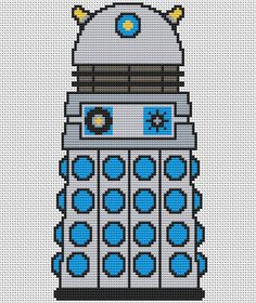 Classic Dalek Cross Stitch Kit - Complete Charted Kit - Doctor Who Cross Stitch Kit on Etsy, £7.99