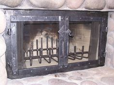 wrought iron fireplace doors | Door Designs Plans