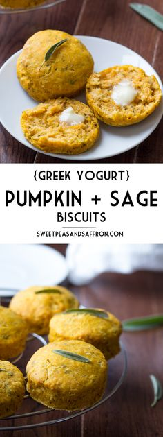 Pumpkin Sage Biscuits, lightened up with Greek yogurt (not that you'd know it!)