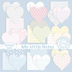 Sticky Note Clipart Labels digital Post it Notes by PrintableTales