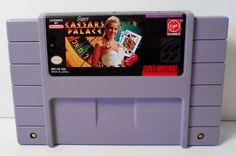 Super Nintendo SNES Super Caesars Palace Video Game Cartridge Only Virgin Games