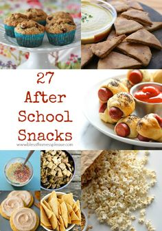 27 Tasty After School Snacks Ideas/great for adults too