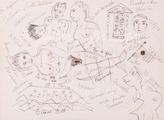 Cartoon drawn by Henry Miller during insomniac period  Discover the coolest shows in New York at www.artexperience...