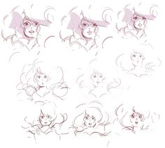 """Rebecca Sugar: """"Rough drawings for Rose's message to Steven in Lion 3! I collaborated with Joe Johnston on this scene. Originally we had planned for Greg to be filming Rose. Joe and Jeff Liu pitched the idea of Rose filming Greg instead, because she was so fascinated by him, and so in love with him. It was such a beautiful thought, I'm still dizzy about it."""""""