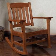 Woodworking Project Paper Plan To Build Rocking Chair/Cradle Combo