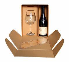 dárková krabice na víno a sklenici Wine Rack, Packaging Design, Storage, Decor, Purse Storage, Decoration, Larger, Wine Racks, Design Packaging