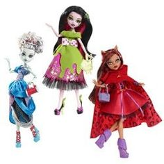 Frankie, Draculaura and Clawdeen - Scary Tales