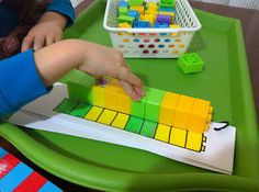 **Zack enjoyed this and was really good at it. I think he's the perfect age for it (2)** following a pattern with duplos