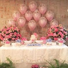 Decoration Birthday Party Ideas Create your perfect party with various decorations like the picture below!Choose from some of plain and themed birthday party decorations including banners, bunting, paper decorations, pom poms,baloon and more. Balloon Centerpieces, Balloon Decorations, Birthday Party Decorations, Baby Shower Decorations, Wedding Decorations, Birthday Parties, Welcome To The Party, Before Wedding, Sweet 16 Parties