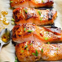Baked salmon with a drizzle of sweetness #healthyeating