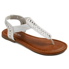 Girls' Beaded Thong Sandals
