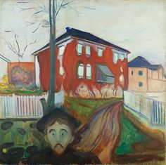 1898-1900 House with Red Virginia Creeper oil on canvas 119.5 x 121 cm Munch Museum, Oslo