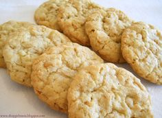 Butterscotch Coconut Cookies.. Williams Sonoma recipe. These are a huge hit and have been one of my Christmas staples since 2004!