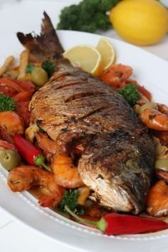 Healthy Baked Fish Recipes, Best Fish Recipes, Lobster Recipes, Seafood Recipes, Appetizer Recipes, Salmon Dishes, Seafood Dishes, Turkish Fish Recipe, Fish Dishes For Dinner