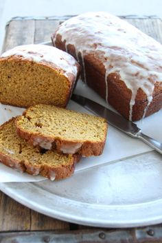 Need to use up those overripe bananas on your  counter? Try A Bountiful Kitchen's Pumpkin Banana Bread with Orange Glaze
