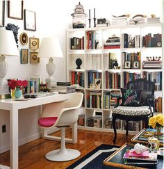 chic office set up