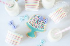 Decorate adorable birthday cake cookies with this fast & fun tutorial! You'll be the star of the party with these sweet treats!