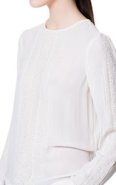LACE BLOUSE - Tops - Woman - ZARA United States