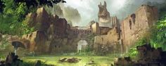 Lost Temple, Juan Pablo Roldan on ArtStation at https://www.artstation.com/artwork/xJXQm
