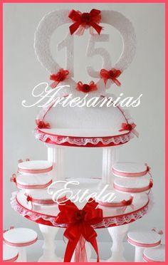 mesa principal para 15 anera   Artesanias Estela » Maqueta Para Souvenirs Para 15 Años Modelos 2012