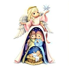 Precious Moments Quotes, Precious Moments Figurines, Blessed Family, Christmas Decorations, Christmas Ornaments, Christmas Nativity, Felt Ornaments, Holy Family, Holiday Time