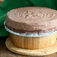 Triple Layer Chocolate Mousse Cake. Glutenfree Vegan Recipe. No Bake, No Palm oil - Vegan Richa