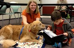 Bow Wow Book Buddies! Children can build confidence in their reading ability with our friendly library therapy dogs on Sundays. Visit www.smfpl.org for dates & times. No registration required; sign up for a 15 minute time slot with the dog of your choice on Bow Wow Book Buddy Sundays.
