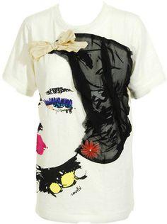 Lanvin Face t-shirt - ShopStyle Shortsleeve Tops Designer Graphic Tees, Brown Fashion, Kids Fashion, Fashion Design, Shoulder Tops, Cold Shoulder, Lanvin, Shirt Dress, T Shirt