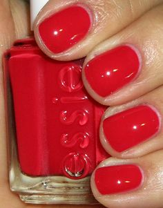 Essie: Lollipop... best holiday nail color- from the 4th to Christmas