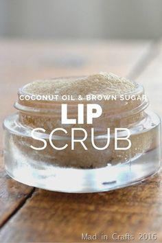Coconut Oil, Honey & Brown Sugar Lip Scrub