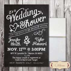 cute for a couples shower invite, like the couples part