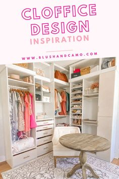 I have a couple of questions for you. Do you need a dedicated office space just for you? Do you need more closet space that's organized and easy to get to? Have you thought about a CLOFFICE? What's a cloffice you ask? It's a closet and office space combined. I will show you how I planned the space, what installation looked like and then the best part - the big reveal! Let me show you how I found the perfect use of space and you can too! #clofficeinspiration #homeoffice #bloggersgonnablog