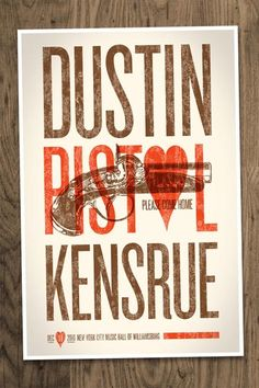 Dustin Kensrue - Cause we love posters...