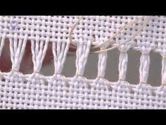 ▶ Learn How To Ladder Hem Stitch over 4 Threads - YouTube