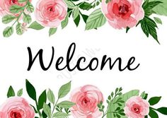 PRINTABLE 5X7 WATERCOLOR WELCOME Sign
